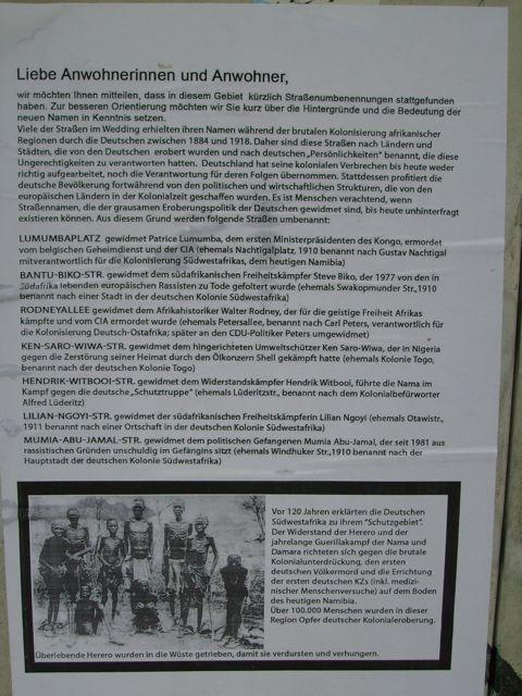 Plakat Straßenumbennung